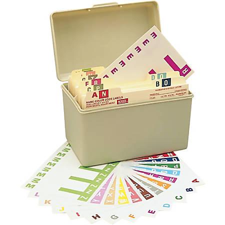 Smead® NCC Alphaz® Permanent Color-Coded Name Label Kit, NCC-ADU, Box Of 1,500 Labels
