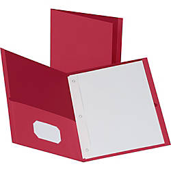 Business Source Storage Pockets Fastener Folders
