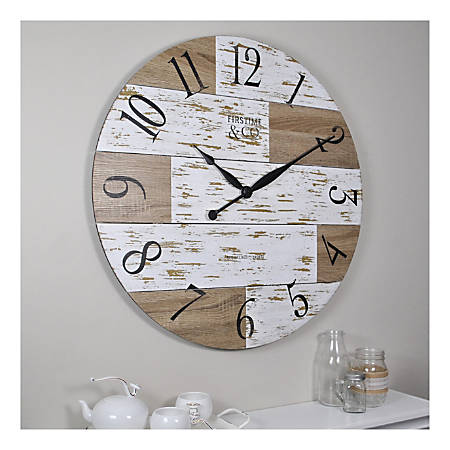 FirsTime & Co. Harper Pallets Wall Clock