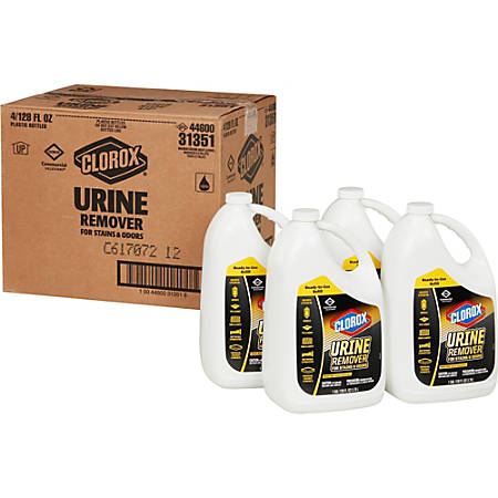 Clorox Urine Remover for Stains and Odors - Liquid - 1gal - 4 / Carton - Clear - Refill