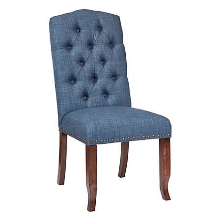 Ave Six Jessica Tufted Dining Chair, Navy/Coffee
