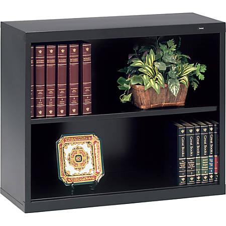 "Tennsco Welded Bookcase - 34.5"" x 13.5"" x 28"" - 2 x Shelf(ves) - 240 lb Load Capacity - Black - Steel - Recycled"
