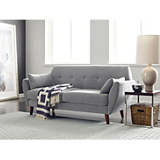 Serta Artesia Collection Loveseat Smoke GrayChestnut
