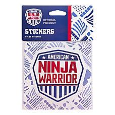 American Ninja Warrior Shield Stickers 4