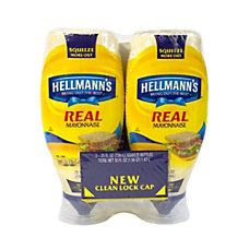 Hellmanns Real Mayonnaise 25 Oz Bottle