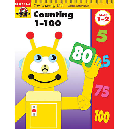 Evan-Moor® Learning Line: Counting 1 To 100, Grades 1-2