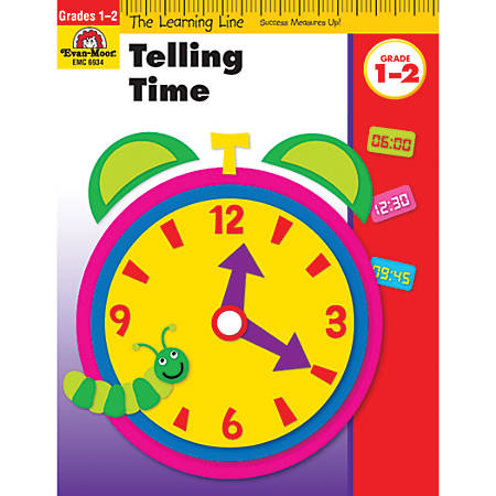 Evan-Moor® Learning Line: Telling Time, Grades 1-2