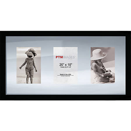 """PTM Images Photo Frame, Double Glass, 10""""H x 20""""W, Black"""