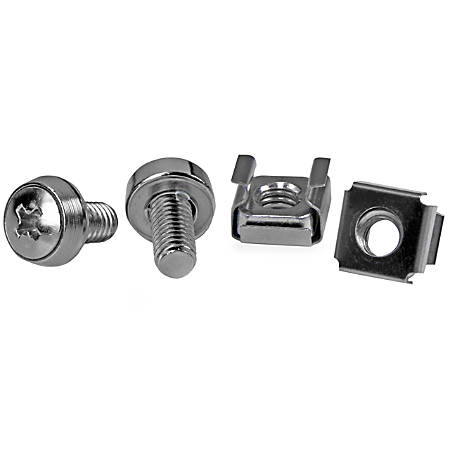 StarTech.com M6 Mounting Screws With Cage Nuts, Pack Of 50