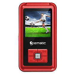 Ematic EM208VID 8 GB Red Flash