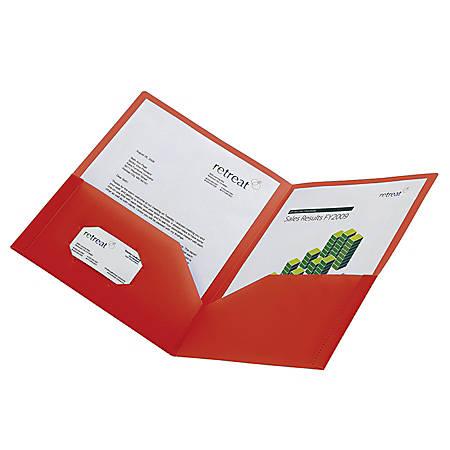 "Office Depot® Brand Heavy-Duty ""Polyport"" Portfolio, Red"