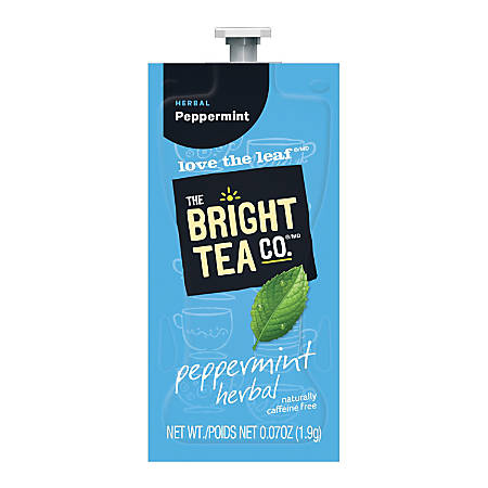 The Bright Tea Co.™ Peppermint Herbal Tea Freshpacks, 0.25 Oz, Box Of 100