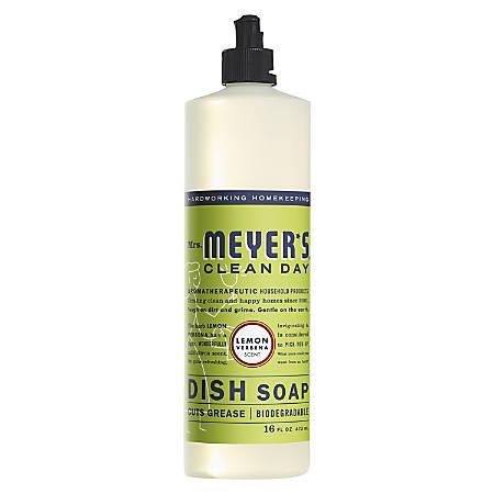 Mrs. Meyer's Clean Day Dish Soap, Lemon Scent, 16 Oz