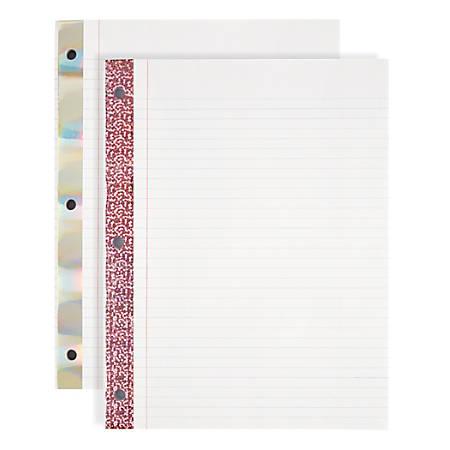 Office Depot® Brand Notebook Filler Paper, Reinforced, College-Ruled, 8