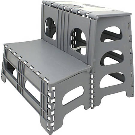 Astonishing Range Kleen Ss2 Plastic 2 Step Step Stool 300 Lb Capacity 17 1 2 Gray Item 949161 Cjindustries Chair Design For Home Cjindustriesco