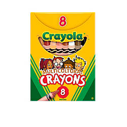 Crayola Multicultural Standard Crayons Assorted Specialty