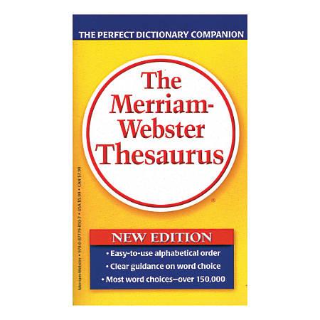 Merriam-Webster's Thesaurus, Pack Of 3