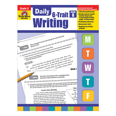 Evan-Moor® Daily 6-Trait Writing, Grade 8