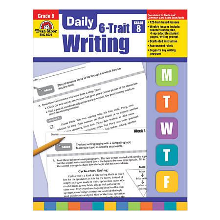 Evan-Moor® Daily 6-Trait Writing, Grade 8