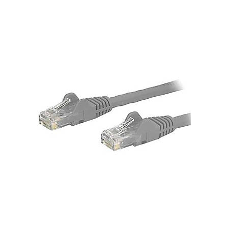 StarTech.com 30ft Gray Cat6 Patch Cable with Snagless RJ45 Connectors - Long Ethernet Cable - 30ft Cat 6 UTP Cable - First End: 1 x RJ-45 Male Network - Second End: 1 x RJ-45 Male Network - Patch Cable - Gold Plated Connector - Gray