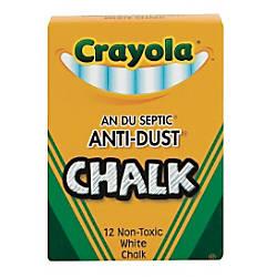 Crayola Anti Dust Chalk White Box