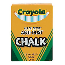 Crayola Anti Dust Chalk White Box