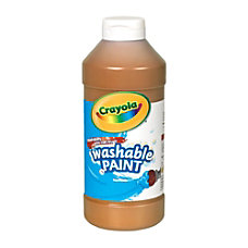 Crayola Washable Paint Brown 16 Oz