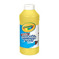 Crayola Washable Paint Yellow 16 Oz
