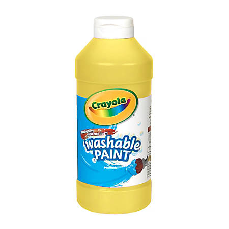 Crayola® Washable Paint, Yellow, 16 Oz