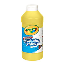 Crayola Washable Paint Yellow 16 Oz