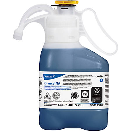 Diversey Glance NA Glass Cleaner - Liquid - 0.37 gal (47.34 fl oz) - 2 / Carton - Blue