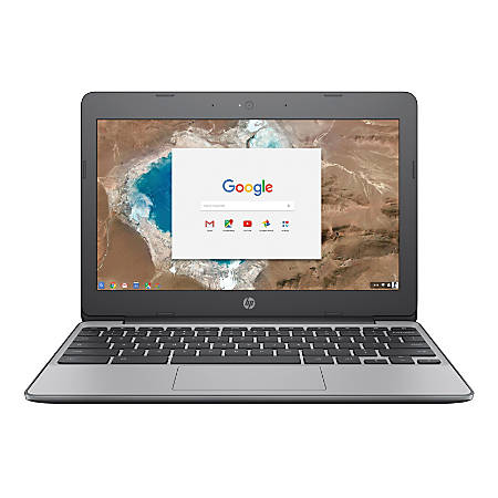"HP Chromebook 11-v010nr Laptop, 11.6"" Screen, Intel® Celeron® N3060, 4GB Memory, 16GB eMMC Drive, Chrome OS™, Anodized Silver"