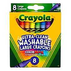 Crayola Large Washable Crayons Assorted Colors