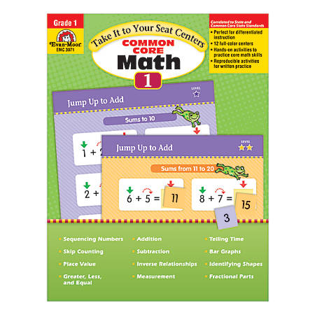 Evan-Moor® Take It To Your Seat Math Centers, Grade 1 Item # 949687