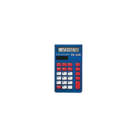 Texas Instruments® TI-108 Calculators, Teacher Kit For Grades K-4, Set Of 10