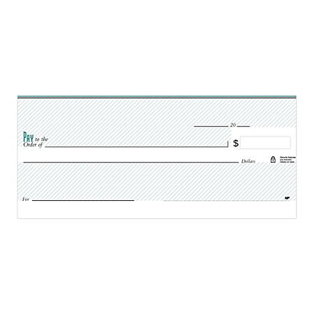 "Personal Wallet Checks, 6"" x 2 3/4"", Singles, Pinstripe Green, Box Of 150"
