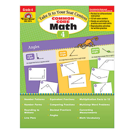 Evan-Moor® Take It To Your Seat Math Centers, Grade 4