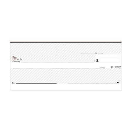 "Personal Wallet Checks, 6"" x 2 3/4"", Singles, Pinstripe Maroon, Box Of 150"
