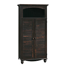 Sauder Harbor View Computer Armoire Antiqued