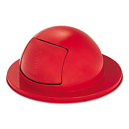 "Rubbermaid® Commercial Towne Series Steel Dome-Top Waste Receptacle Lid, 12"" x 25"", Red"