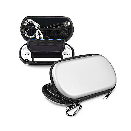 Insten Eva Travel Carrying Protective Case For Sony Playstation Vita PSVITA, Silver