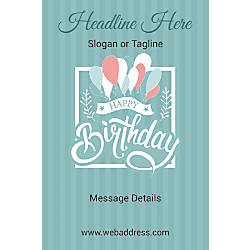 Custom Poster Birthday Balloons Vertical