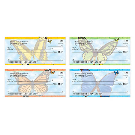 """Personal Wallet Checks, 6"""" x 2 3/4"""", Duplicates, Flutters, Box Of 150"""