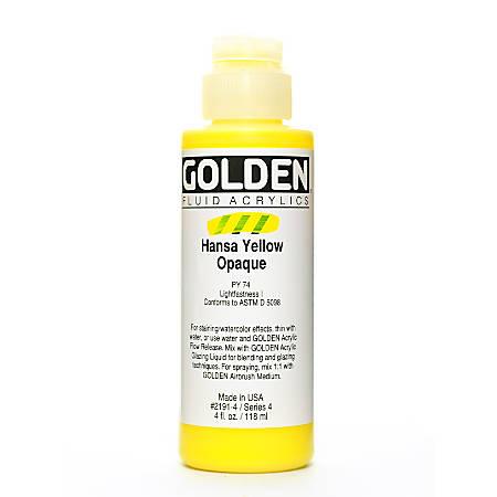 Golden Fluid Acrylic Paint, 4 Oz, Hansa Yellow Opaque