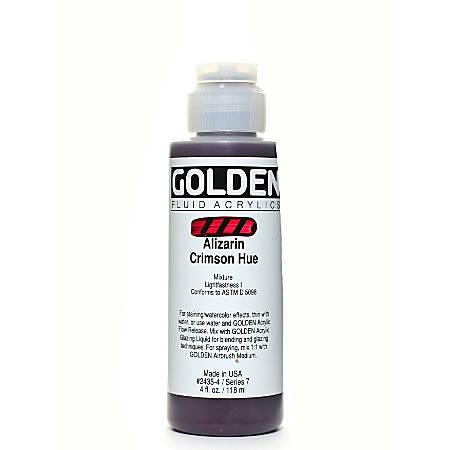 Golden Fluid Acrylic Paint, 4 Oz, Historical Alizarin Crimson Hue