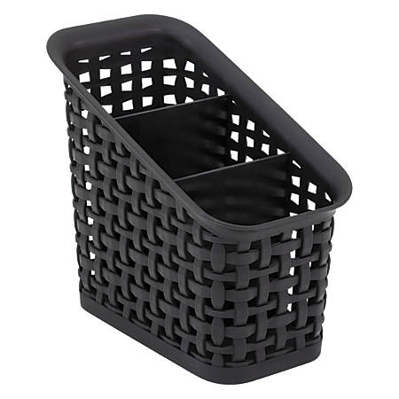 See Jane Work® 3-Tier Weave Bin, Black