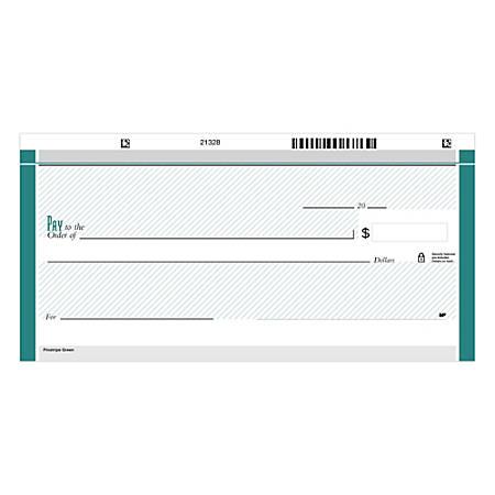 "Personal Wallet Checks, 6"" x 2 3/4"", Duplicates, Pinstripe Green, Box Of 150"