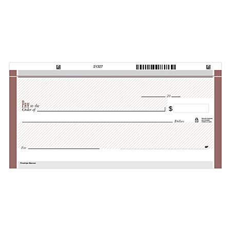 "Personal Wallet Checks, 6"" x 2 3/4"", Duplicates, Pinstripe Maroon, Box Of 150"