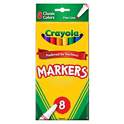 Crayola Fine Line Markers Assorted Classic