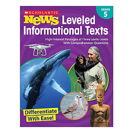 Scholastic® News Leveled Informational Texts Activity Book, 5th Grade